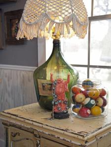 Who wants this beautiful lamp made from a wine bottle?  Courtesy of HGTV.