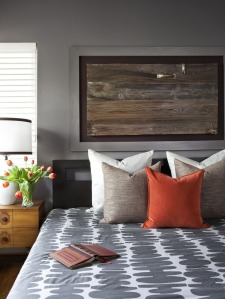 Need to decorate?  How about framing an old piece of wood with character?  Courtesy of HGTV.