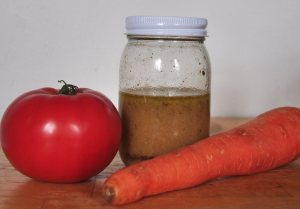 Make your own wholesome dressing and put in a mason jar.