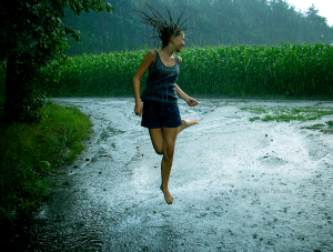 Who enjoys dancing in the rain?