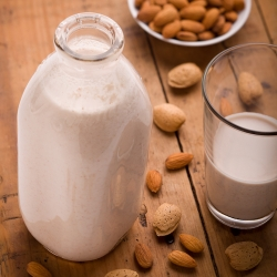 Healthy Homemade Almond Milk- yum!